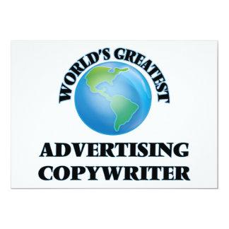 "World's Greatest Advertising Copywriter 5"" X 7"" Invitation Card"