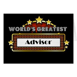 World's Greatest Advisor Card