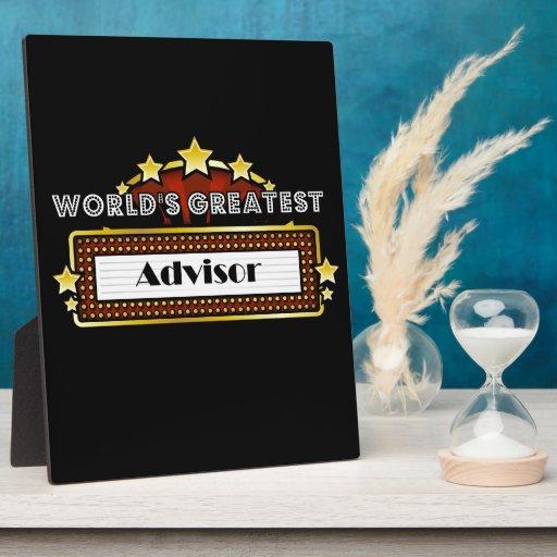 World's Greatest Advisor Plaque
