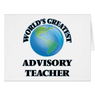 World's Greatest Advisory Teacher Card