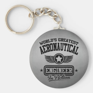 World's Greatest Aeronautical Engineer In Action Basic Round Button Keychain