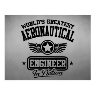 World's Greatest Aeronautical Engineer In Action Postcard