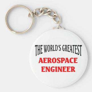 World's Greatest Aerospace Engineer Basic Round Button Keychain