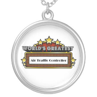 World's Greatest Air Traffic Controller Round Pendant Necklace