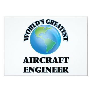 World's Greatest Aircraft Engineer 5x7 Paper Invitation Card