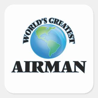 World's Greatest Airman Square Sticker