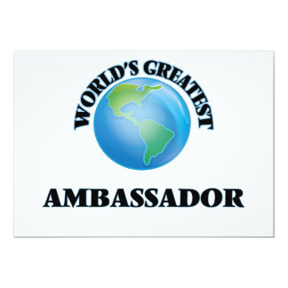 World's Greatest Ambassador Card