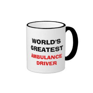 WORLD'S GREATEST  AMBULANCE DRIVER RINGER COFFEE MUG
