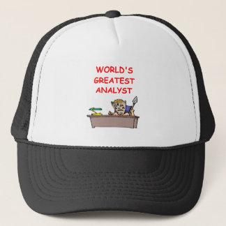 world's greatest analyst trucker hat