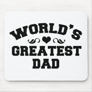 Worlds greatest and coolest dad mouse pad