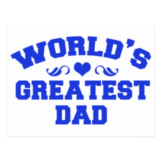 Worlds greatest and coolest dad postcard