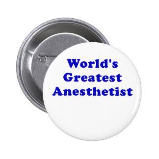 Worlds Greatest Anesthetist Pinback Button
