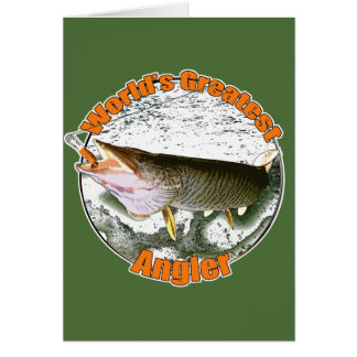 World's greatest angler card