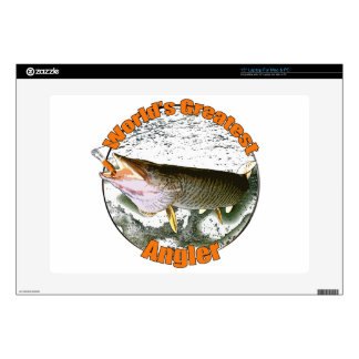 World's greatest angler decal for laptop