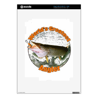 World's greatest angler decals for the iPad 2
