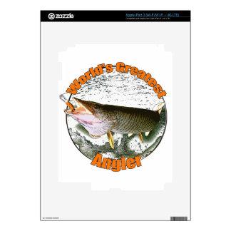 World's greatest angler iPad 3 decals