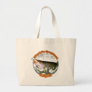 World's greatest angler jumbo tote bag