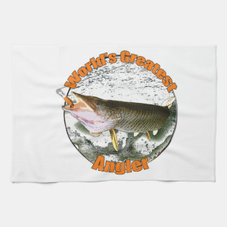 World's greatest angler kitchen towels