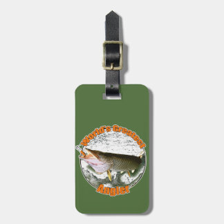 World's greatest angler luggage tag
