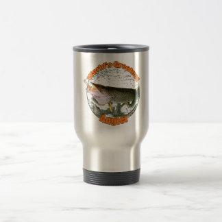 World's greatest angler 15 oz stainless steel travel mug