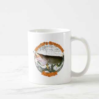 World's greatest angler classic white coffee mug