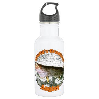 World's greatest angler 18oz water bottle