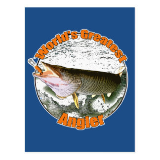World's greatest angler postcard