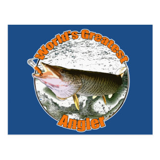World's greatest angler postcard