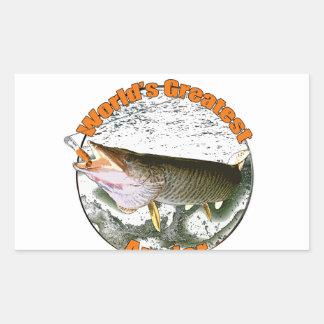 World's greatest angler rectangular sticker
