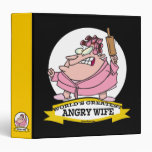 WORLDS GREATEST ANGRY WIFE CARTOON 3 RING BINDERS