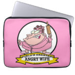 WORLDS GREATEST ANGRY WIFE CARTOON LAPTOP SLEEVES