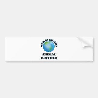 World's Greatest Animal Breeder Car Bumper Sticker