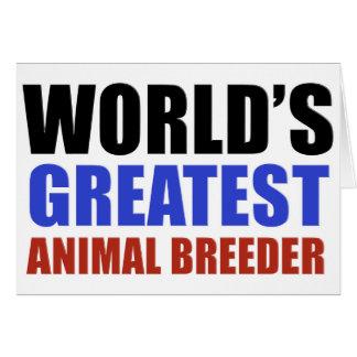 World's greatest Animal Breeder Card