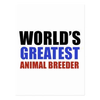 World's greatest Animal Breeder Postcard