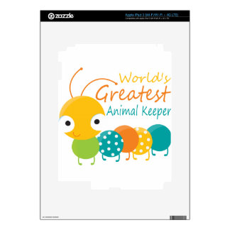 World's Greatest Animal Keeper iPad 3 Decals