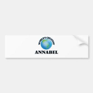 World's Greatest Annabel Bumper Sticker