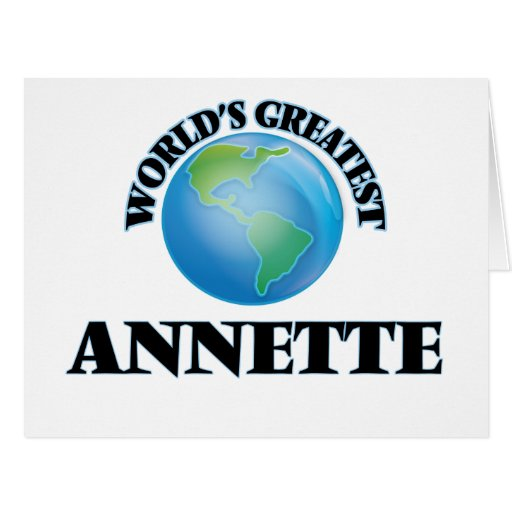 World's Greatest Annette Card