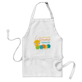 World's Greatest Announcer Adult Apron