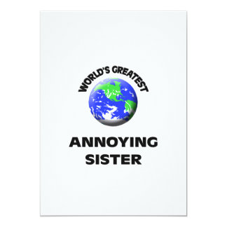 World's Greatest Annoying Sister 5x7 Paper Invitation Card