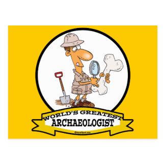 WORLDS GREATEST ARCHAEOLOGIST MEN CARTOON POSTCARD