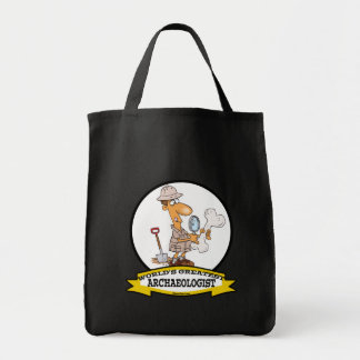 WORLDS GREATEST ARCHAEOLOGIST MEN CARTOON TOTE BAG