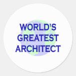 WORLD'S GREATEST ARCHITECT CLASSIC ROUND STICKER