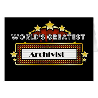 World's Greatest Archivist Card