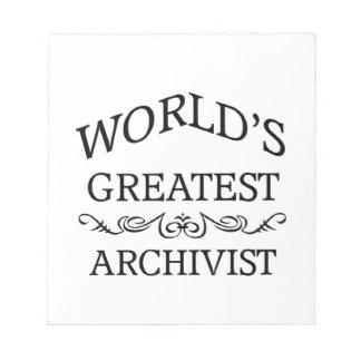 World's greatest Archivist Note Pad