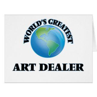 World's Greatest Art Dealer Large Greeting Card