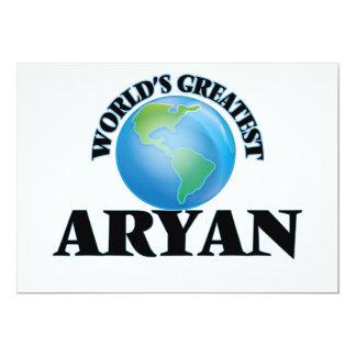 "World's Greatest Aryan 5"" X 7"" Invitation Card"