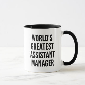 Worlds Greatest Assistant Manager Mug