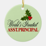 World's Greatest Assistant Principal Christmas Ornaments