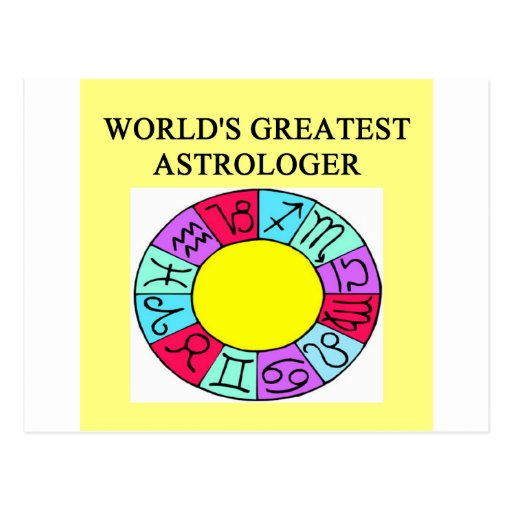 worlds greatest astrologer post card