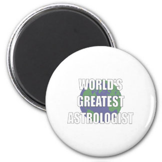 World's Greatest Astrologist 2 Inch Round Magnet